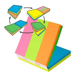 Līmlapiņu kubs 3M Post-it MULTI 76x76mm/150l.+ 25x76/150l.