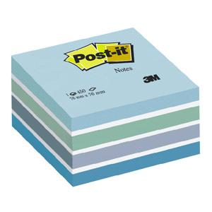 Līmlapiņu kubs 3M Post-it 76x76mm/450l. pasteļzils