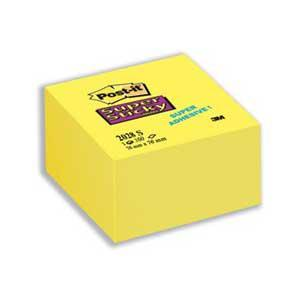 Līmlapiņu kubs 3M Post-it Super Sticky 76x76mm/350l. dzelten