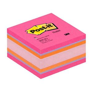 Līmlapiņu kubs 3M Post-it JOYFUL krās. roza 76x76mm, 450 lap.