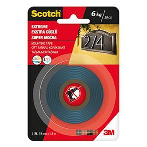 Двухсторонний монтажный скотч Scotch Mounting Tape extreme 19мм x 1.5м