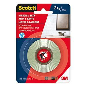 Līmlente 3M Scotch MIRROR 19x1.5m montāžas