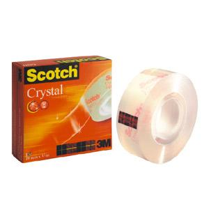 Līmlente 3M Scotch Crystal 600 19mmx33m