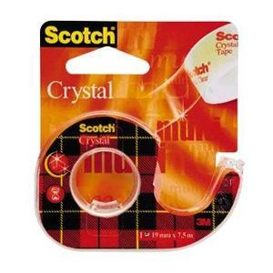 Līmlente 3M Scotch Crystal 19mmx7.5m ar turētāju