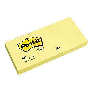 Līmlapiņas 3M Post-it 38x51mm/100l. dzeltenas 3gab.
