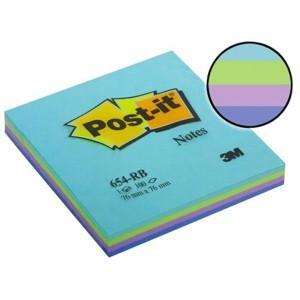 Līmlapiņas 3M Post-it Rainbow 76x76mm/100l. Ūdens krāsas
