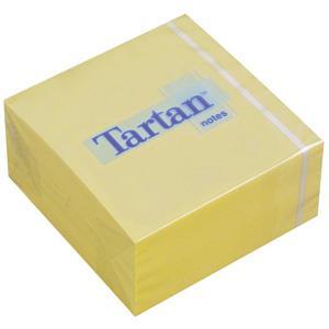 Līmlapiņu kubs 3M Tartan 76x76mm,  400 lapas,  dzeltenā krāsā