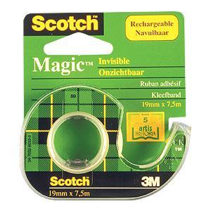 Līmlente 3M Scotch Magic 19mmx7.5m matēta ar turētāju