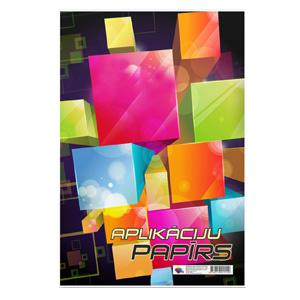 Aplikāciju papīrs A3,  divpusīgs,  8 krāsas