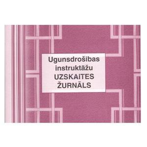 Ugunsdrošības instruktāžu uzskaites žurnāls A5 48lapas