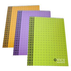 Bloknots A5/80 lapas rūtiņu,  ar spirāli augšpusē