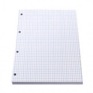 Rūtiņu papīra bloks A4,  caururbts,  50lap,  ABC