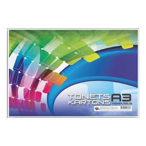 Krāsains kartons A3,  8 krāsas,  vienpusīgs