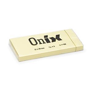 Līmlapiņas AERO ONIX 38x51 dzeltenas 3gab.