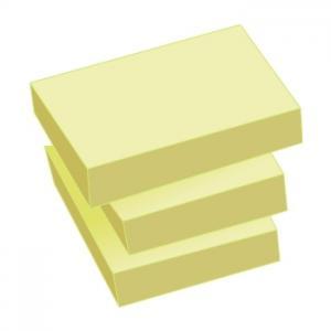 Līmlapiņas AERO Tix 38x51mm dzeltenas 3gab