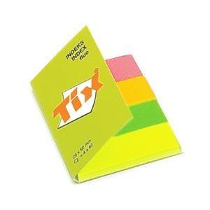 Indeksi AERO Tix 20x50mm 4 fluo krāsas x 40 lapas,  papīra