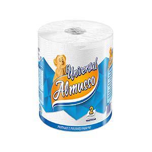 Бумажные полотенца Almusso Universal, белые, 2 слоя, 1 рулон, 30м