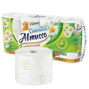 Tualetes papīrs Almusso Camilla Exclusive 8 ruļļi 3 slāņi