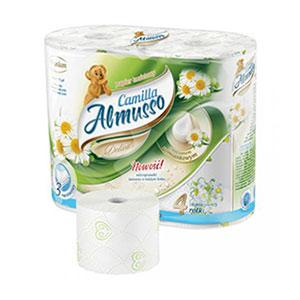 Tualetes papīrs Almusso Camilla Delicate,  4 ruļļi,  3 slāņi