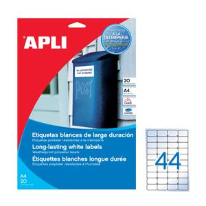 Uzlīmes APLI 48.5x25.4mm/20 loksnes,  caurspīdīgas