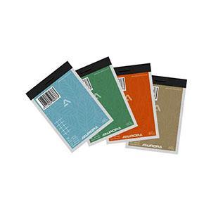 Bloknots A7/100 rūtiņu,  papīra vaks Aurora