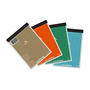 Bloknots A6/100 rūtiņu,  papīra vāks Aurora