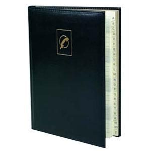 Telefonu un adrešu grāmata AURORA A5/96 līniju,  tumši zila