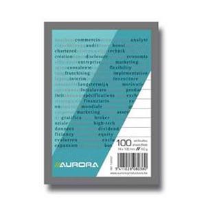 Bloknots A5/100 rūtiņu,  papīra vāks Aurora