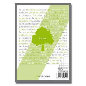 Bloknots A5/100 lapas rūtiņu no pārstrādāta papīra Aurora