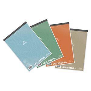 Bloknots A4/100 rūtiņu,  papīra vāks Aurora
