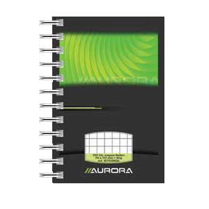 *Bloknots AURORA MANO A7 formāts,  50 lapas rūtiņu,  ar spirāl