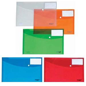 *Mape ar līmpogu AURORA A4 caurspīdīga,  ar kabatu vizītkarte