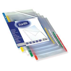 Кармашек BANTEX A4 белая полоса
