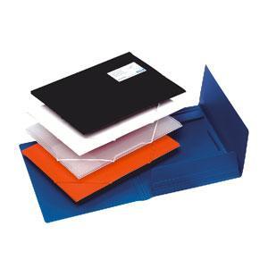 Mape ar gumiju BANTEX A4 melna,  ar lodziņu