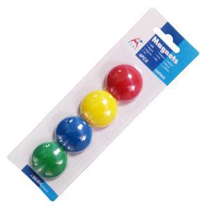 Magnēti 40 mm 4 gabali,  dažādās krāsās