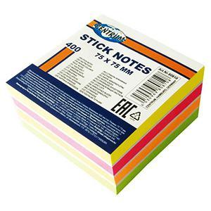 Līmlapiņas 75x75mm,  400 lap.5 neona krāsas