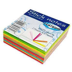 Līmlapiņas 75x75mm,  225 lapas, 9 neona krāsas