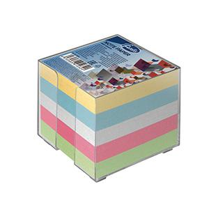 Piezimju papīrs kārbā krāsains,  9x9cm,  800 lapas Forofis
