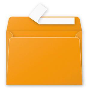 Aploksne C6 114x162 oranža krāsa