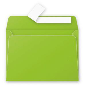 Aploksne C6 114x162mm zaļa krāsa