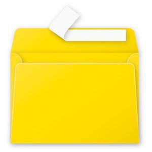 Aploksne C6 114x162 dzeltena krāsa