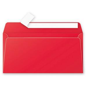 Aploksne E65 110x220 spilgti sarkana krāsa
