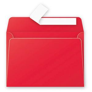 Aploksne C6 114x162mm spilgti sarkana krāsa