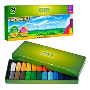 Pastelkrītiņi SOFT PASTELS 24 krāsas,  Cricco