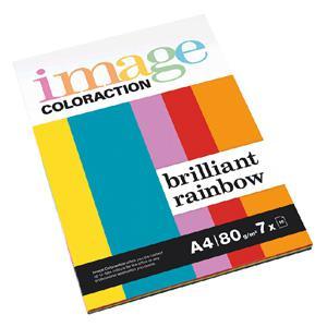 Krāsains papīrs IMAGE C. Brilliant Rainbow A4 80g/m2 7x10lap