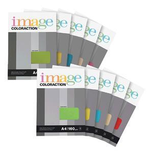 Krāsains papīrs IMAGE C. A4/50lp. 160g/m2 dzeltena krāsa