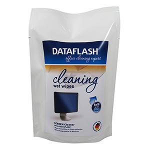 Чистящие салфетки (заменки) для LCD/TFT в мягком контейнере DATA FLASH  (DF1513)