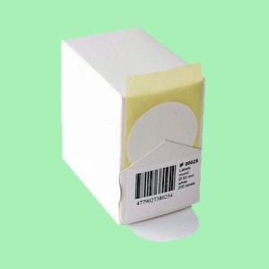 Notāru uzlīmes ar diametru 50mm baltas,  200 uzlīmes/rullī