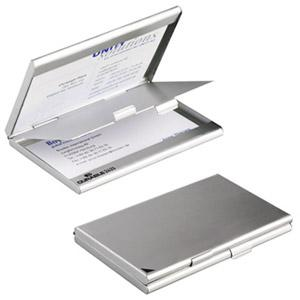 Vizītkaršu kastīte DURABLE,  matēts alumīnijs,  sudraba krāsā