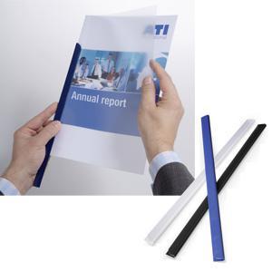 Saspiedēji dokumentiem DURABLE līdz 60 lapām,  melnie 10gab.
